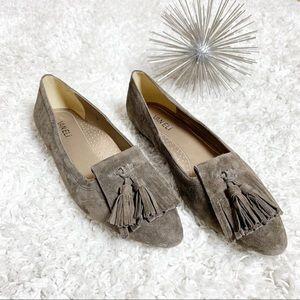 Vaneli Gemma almond toe brown suade loafers 9M